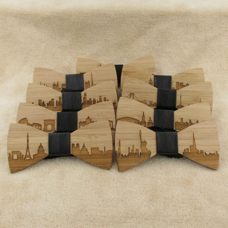 Wooden Bow Tie Washington DC Skyline