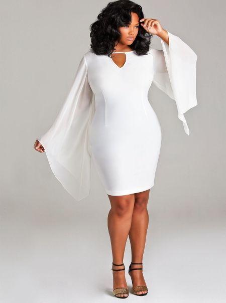 white plus size bat wing dress #unique_womens_fashion http