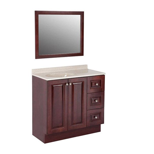 Gabinete de baño northwood dark cherr