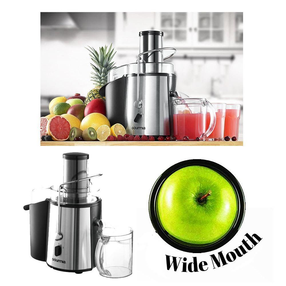 Wide Mouth Fruit Centrifugal Juicer 850W Juice Extractor w/ Multiple ...