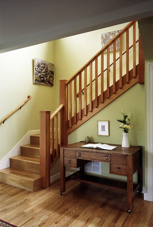 Best Rectangular Wood Balusters Craftsman Staircase 400 x 300