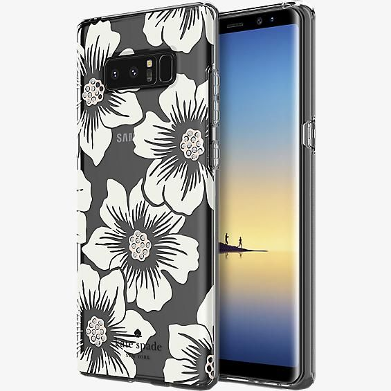 new concept 7c458 2c422 Flexible Hardshell Case for Galaxy Note8 - Hollyhock Floral Clear ...