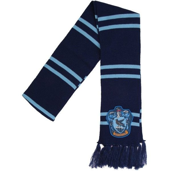 Amazon.com: Harry Potter Ravenclaw Patch Knit Scarf: Clothing (£23) ❤ liked on Polyvore featuring accessories, scarves, knit shawl and knit scarves