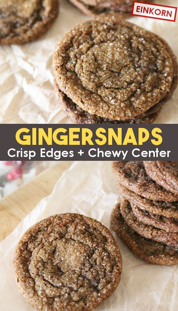 Easy Gingersnap Cookies - Crisp and Chewy!