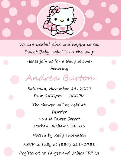Attractive Baby Shower Invite! See More. Baby Hello Kitty!