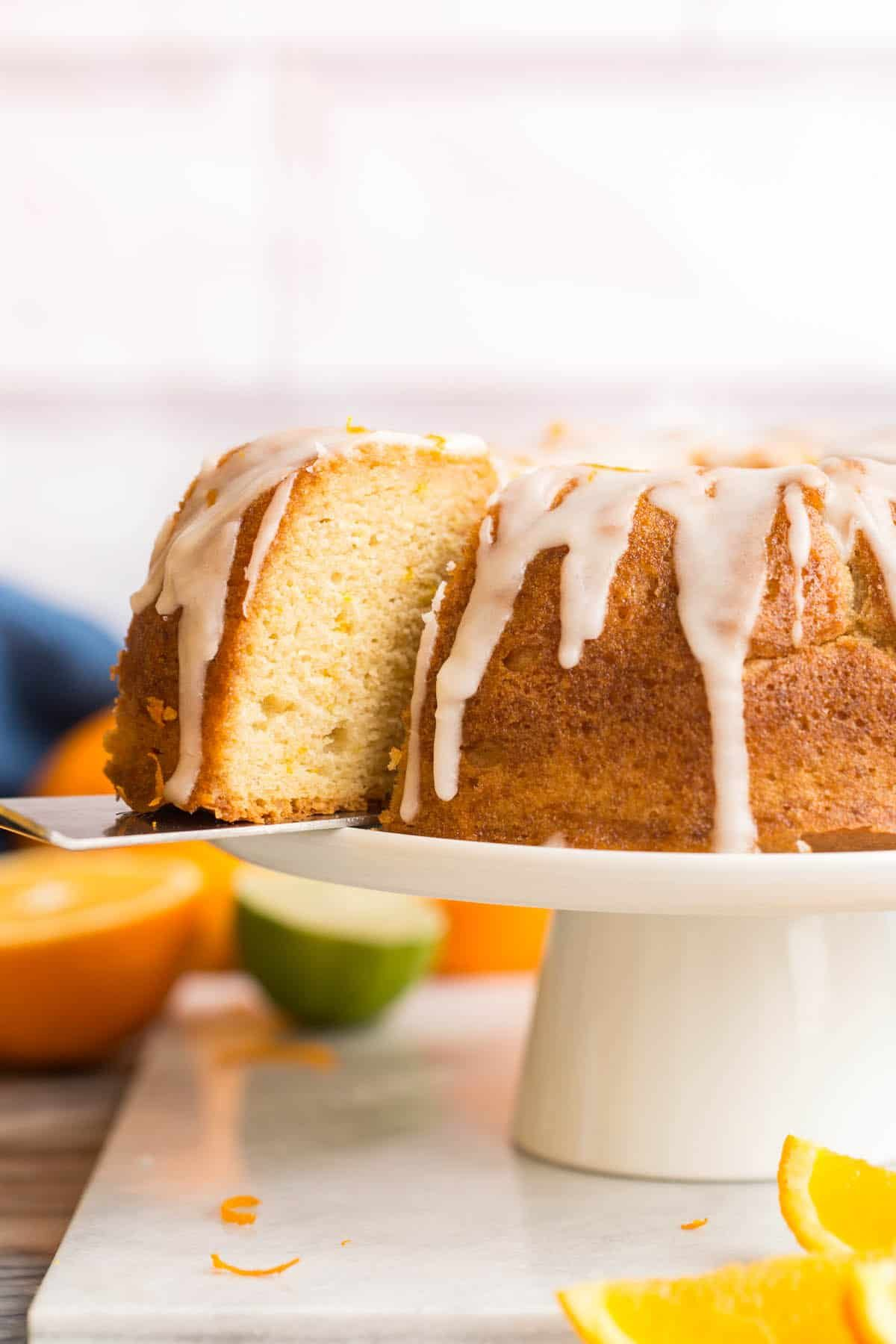 Boozy Orange Drizzle Cake A Saucy Kitchen Simple Syrup For Cakes Citrus Cake Drizzle Cake