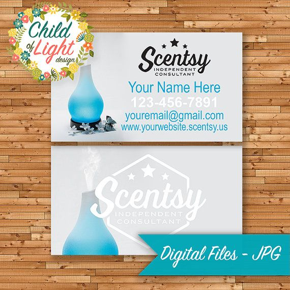 Authorized scentsy vendor business cards custom business card authorized scentsy vendor business cards custom business card blue diffuser personalized cards print your own on vistaprint reheart Image collections