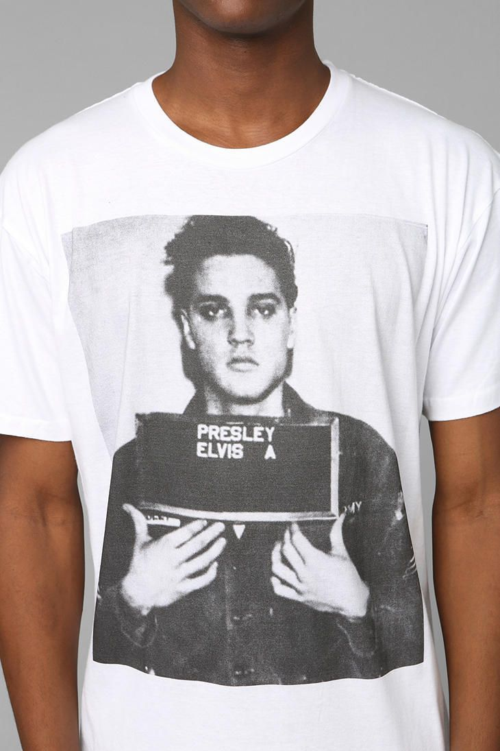 Elvis mug shot tee urban outfitters t shirts for Elvis t shirts for men