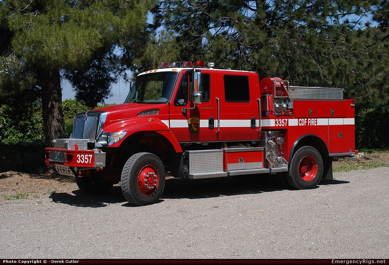 International Wildland California Department Of Forestry Fire Protection Emergency Apparatus Fire Truck Photo Fire Trucks Trucks Rescue Vehicles