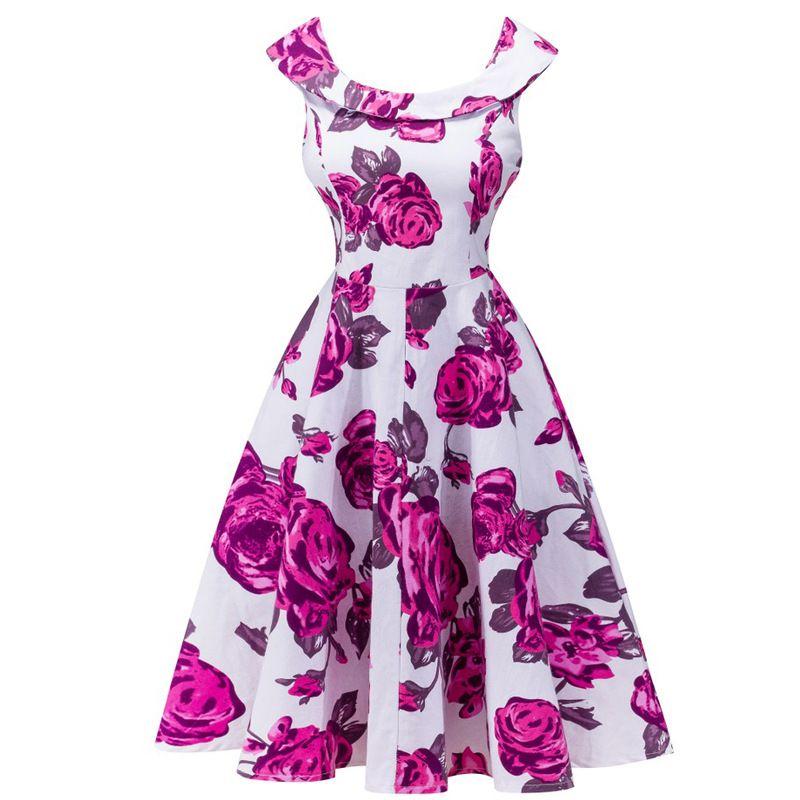 Vintage 50 60s Floral Dress Audrey Hepburn Retro | dress | Pinterest ...