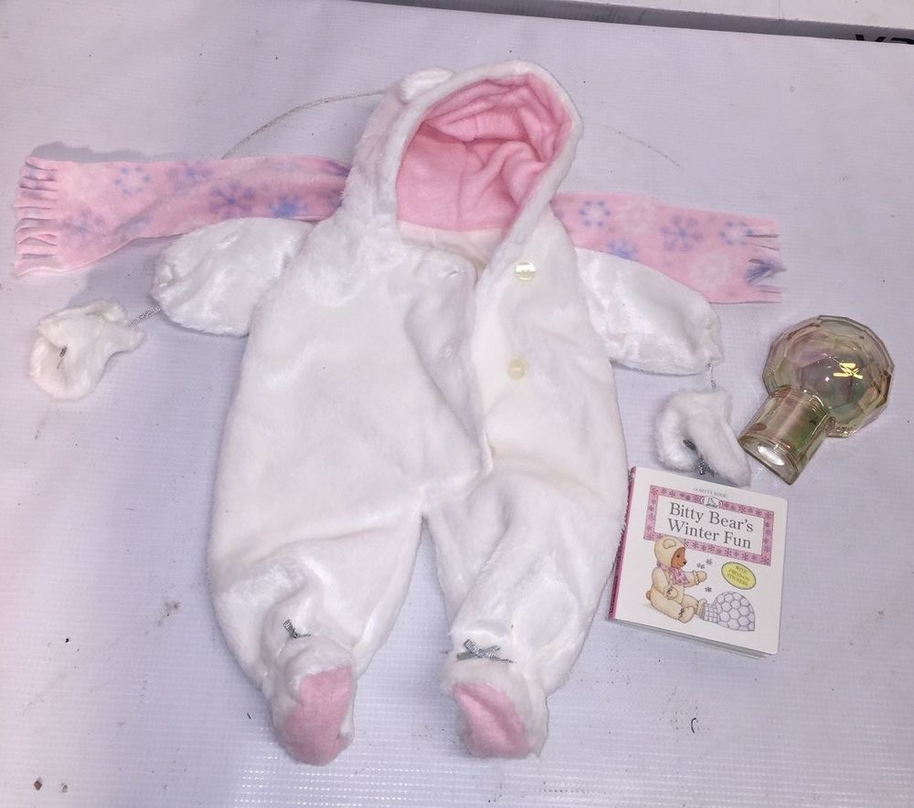 Bitty Baby Clothes Winter Thick Fuzzy Footed Sleeper W Ears