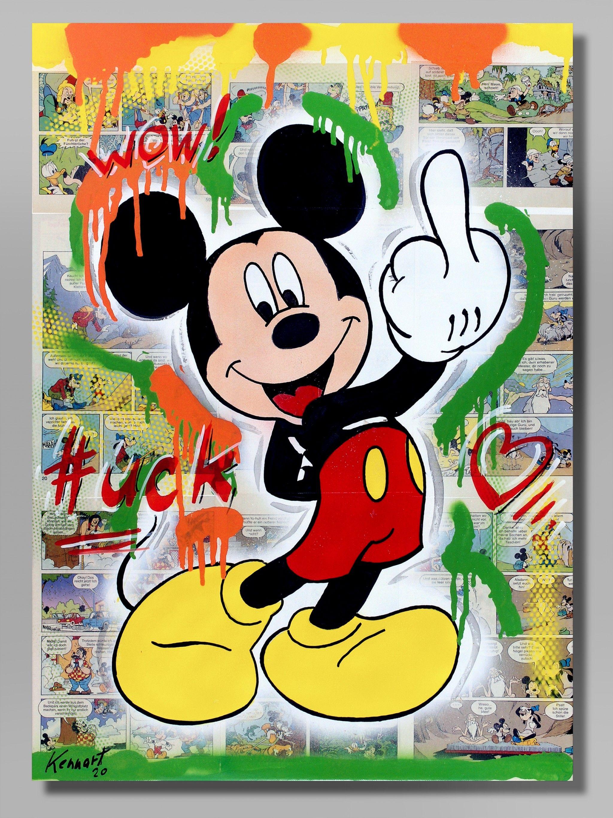 Street Art Uck Artpop Kunstproduktion Original Gemälde