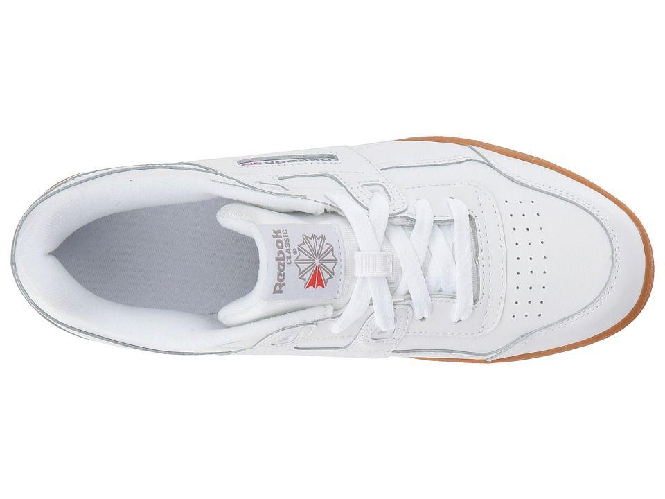 Reebok Kids Workout Plus (Big Kid) Kids Shoes White Gum a47356d7a