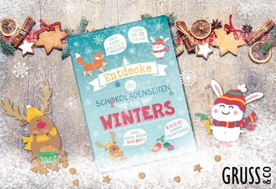 Süßer Adventskalender von GRUSS & CO! http://shop.sheepworld.de/shop/nach-Produktwelt/Winter-Weihnachten/Adventskalender/Adventskalender-Schokoladenseiten.html