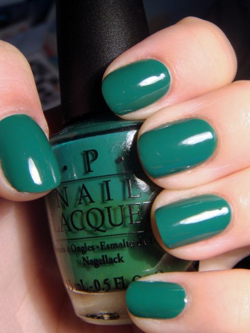 OPI - Jade is the New Black | Nails | Pinterest | Diseños salon ...