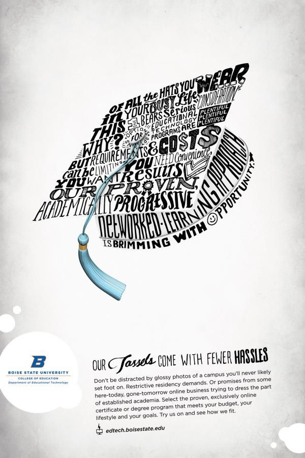 university ad google search typography ads typographic poster boise state university types