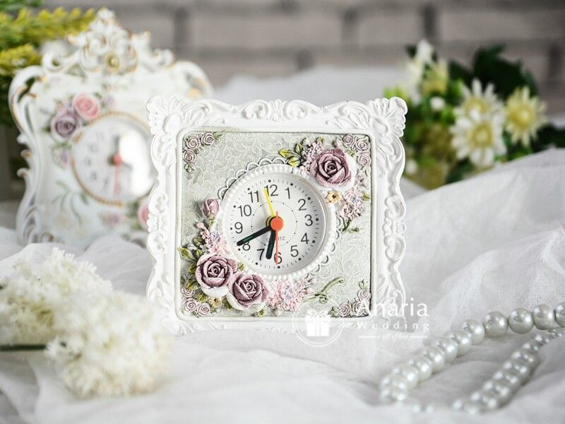 Souvenir Mewah Fb Felicia Table Clock For Wedding Birthday Corporate Event