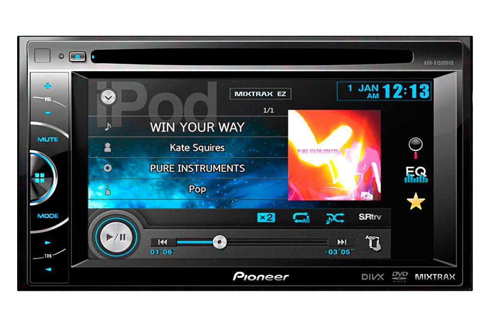 Pioneer Double Din In Dash 6 1 Touchscreen Dvd Mp3 Usb Stereo Receiver Pioneer Car Stereo Hd Radio Car Stereo