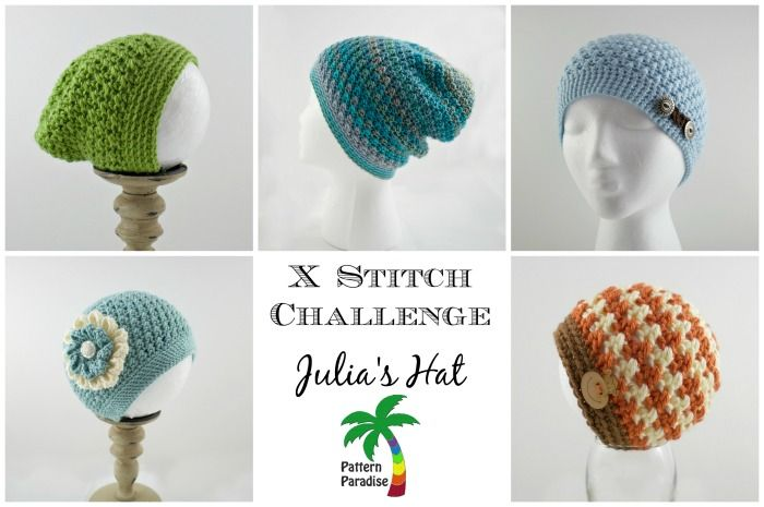 Free crochet pattern for beanie or slouchy hat, x stitch challenge ...