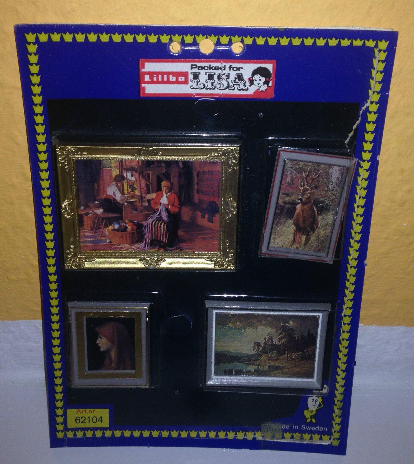 Lillbo Packed for Lisa Bilder Set Gemälde Puppenstube Puppenhaus ...