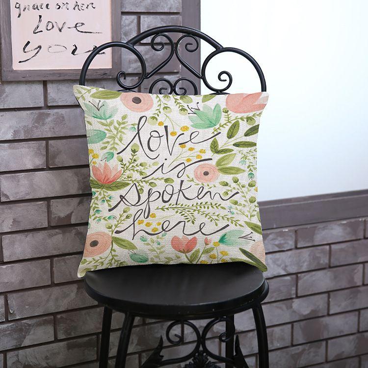 Comprar flores impresas 26 cartas coj n for Proveedores decoracion hogar