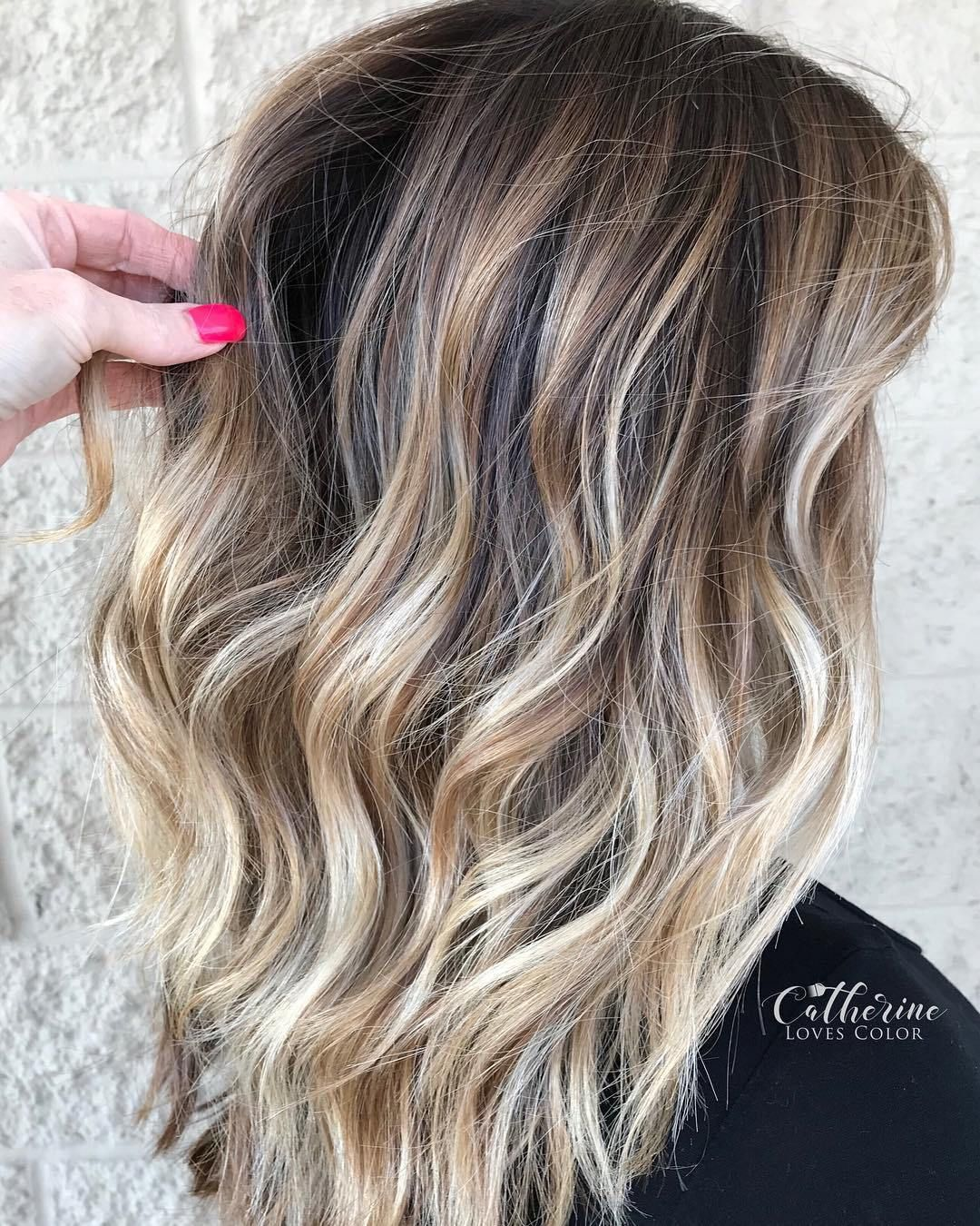 flattering balayage hair color ideas for hair coloring