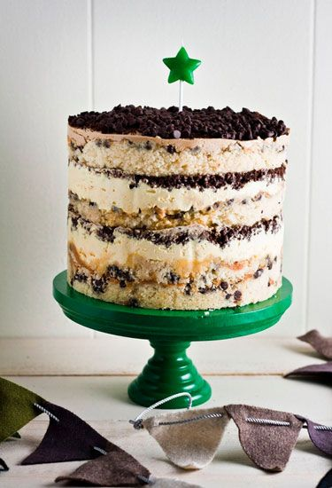 We have one word to describe this chocolate chip buttermilk cake soaked with passion fruit puree and topped with passion fruit curd, chocolate crumbs, and coffee buttercream: epic. Get the recipe at Hummingbird High.   - Delish.com