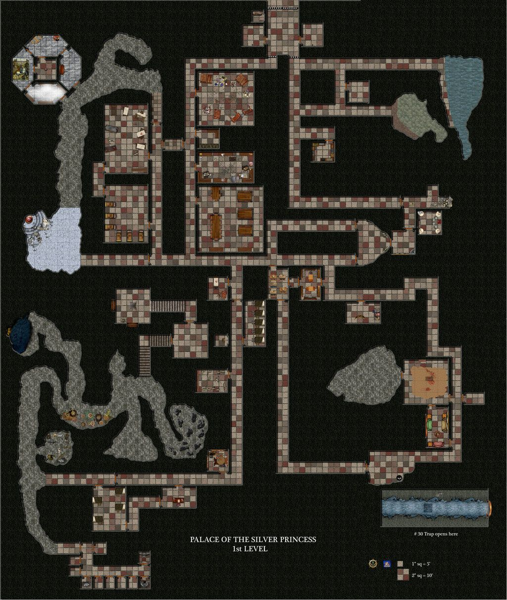 Palace Of The Silver Princess Level 1 By Bogie Dj On Deviantart Dungeon Maps Kelly S Heroes Princess