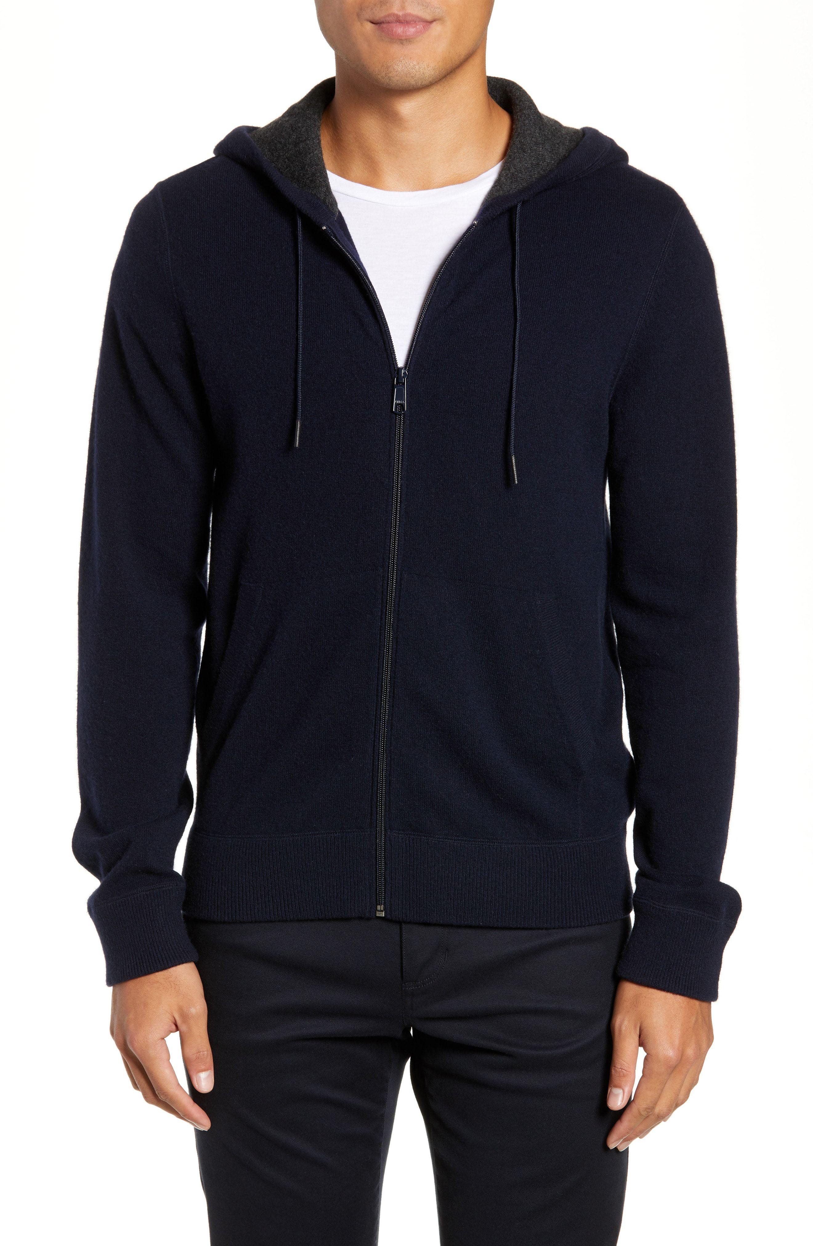 Mlotus Mens Stylish Zip Fleece Hoodie Hooded Slim Pullover Sweatshirt Black