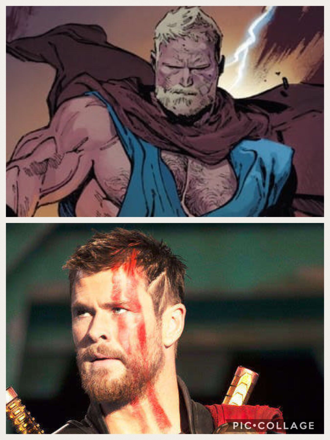 Comic And Movie Scenes Thor With Short Hair Marvel Avengers Movie Scenes Thor