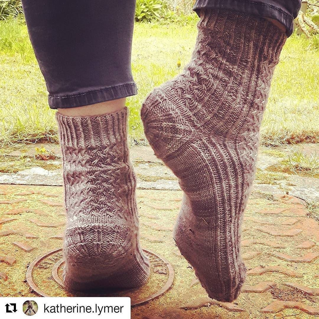 0cb6079fb8c Amazing Manhole Socks knitted by  katherine.lymer Pattern   Manhole Socks  by  yarnison and available on Ravelry. Colourway   Grey Skies in Manchester  .