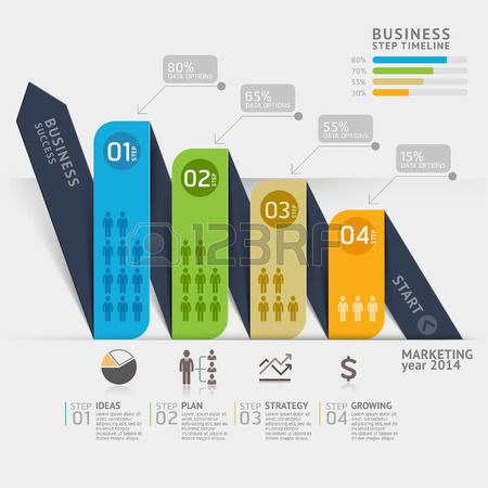 Business marketing arrow timeline template Vector illustration can