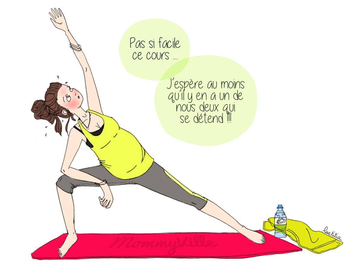 Une Seance De Yoga Pour Femme Enceinte Illustration