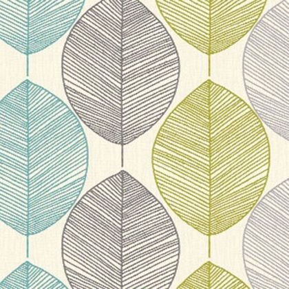 Arthouse Opera Retro Leaf Wallpaper   Teal and Green. Arthouse Opera Retro Leaf Wallpaper   Teal and Green   Wallpaper