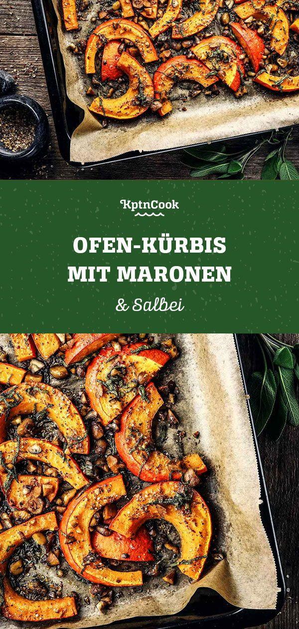 Ofen-Kürbis mit Maronen & Salbei