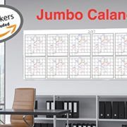 Dry Erase Jumbo Yearly Calendar 36 X 96 Blank Annual