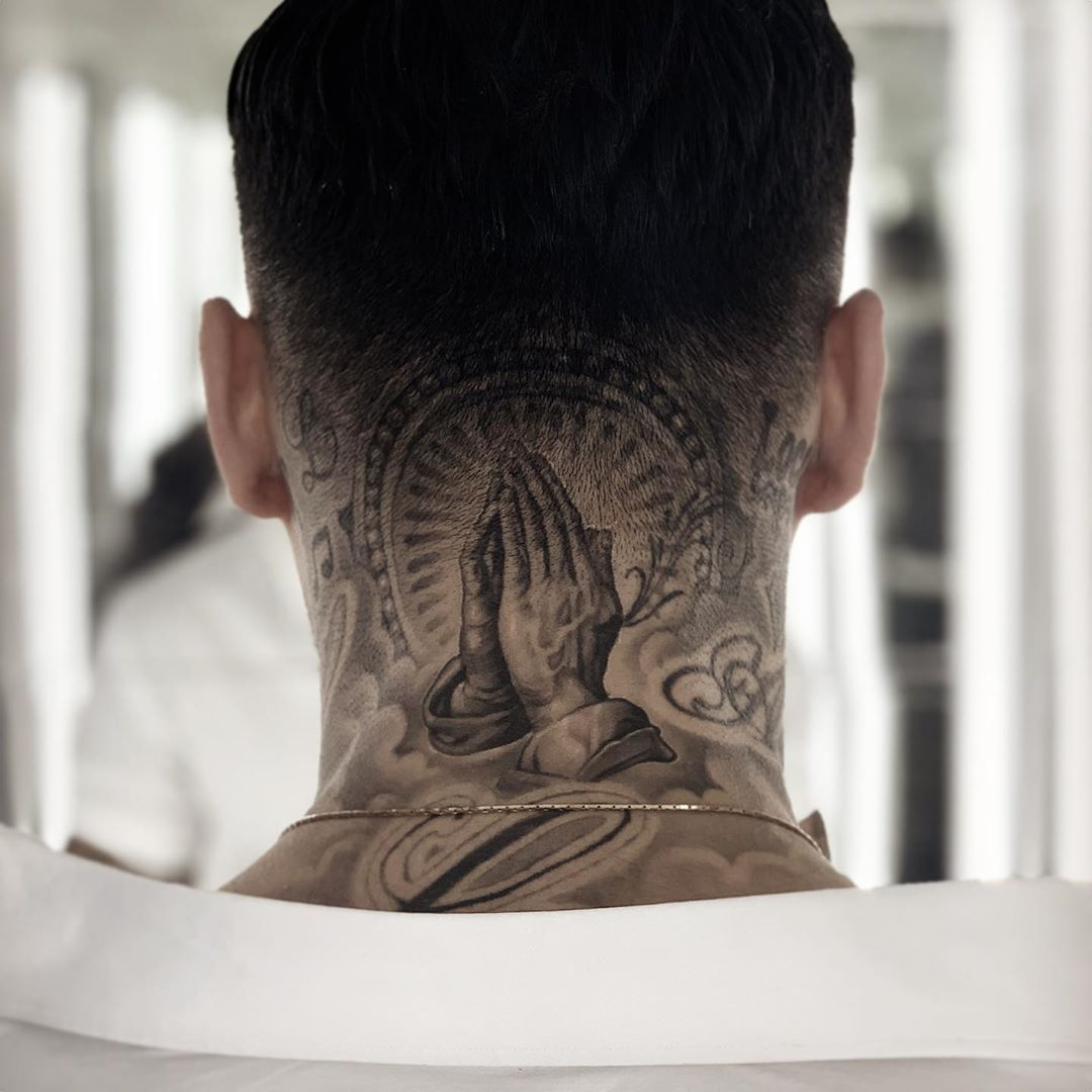 Andy Blanco On Instagram Healed Work On Josef Loco Sometimes It Can Be A Real Challenge To Make Neck Tattoo Neck Tattoo For Guys Back Of Neck Tattoo Men