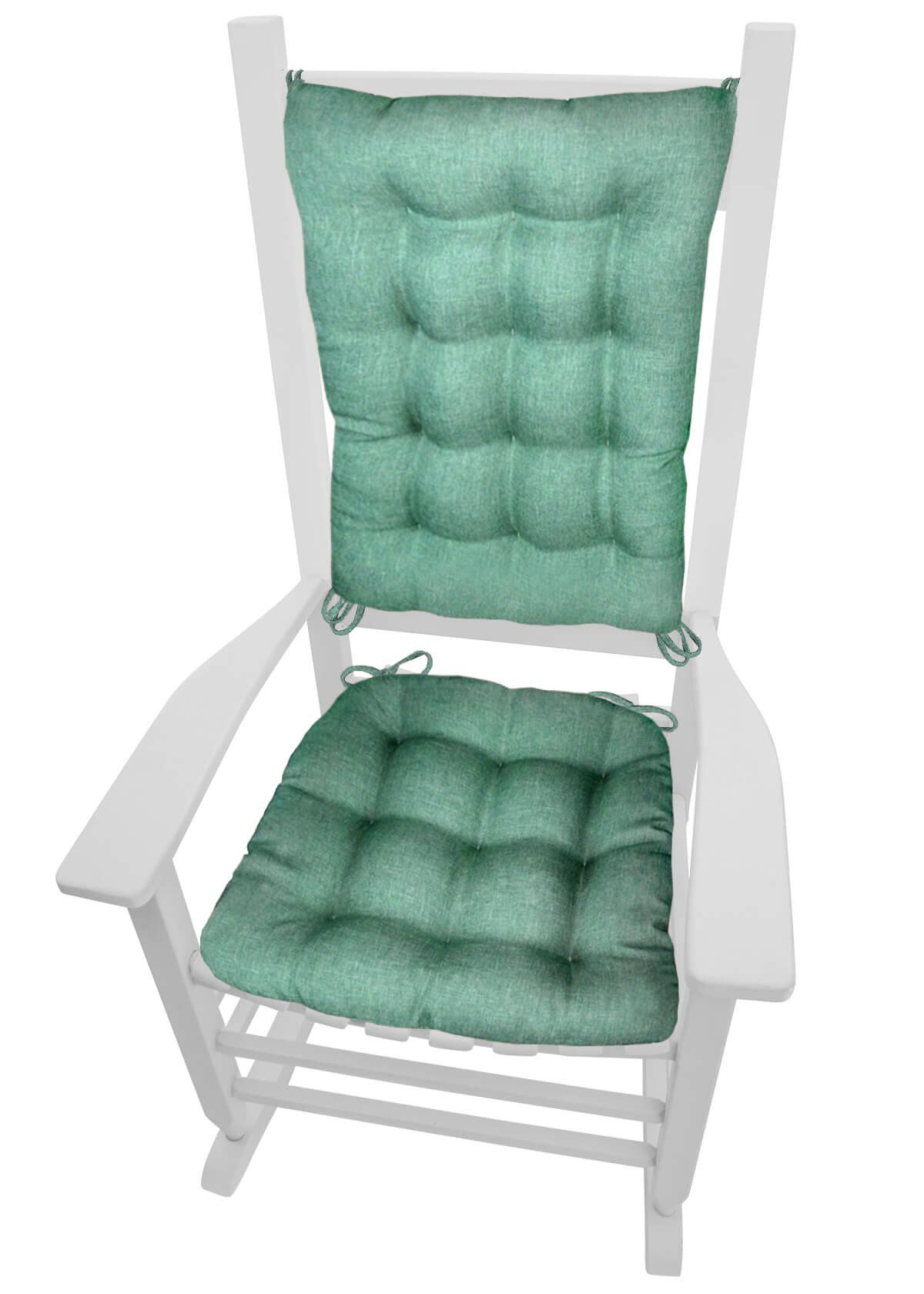 Rocking Chair Cushions Hayden Turquoise Size Extra Large Reversible Latex Foam
