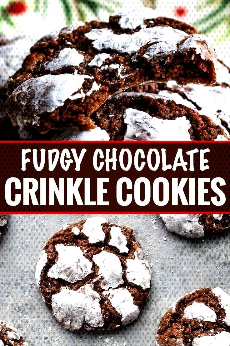 Fudgy Chocolate Crinkle Cookies Fudgy and moist, these Chocolate Crinkle Cookies are a wonderful co