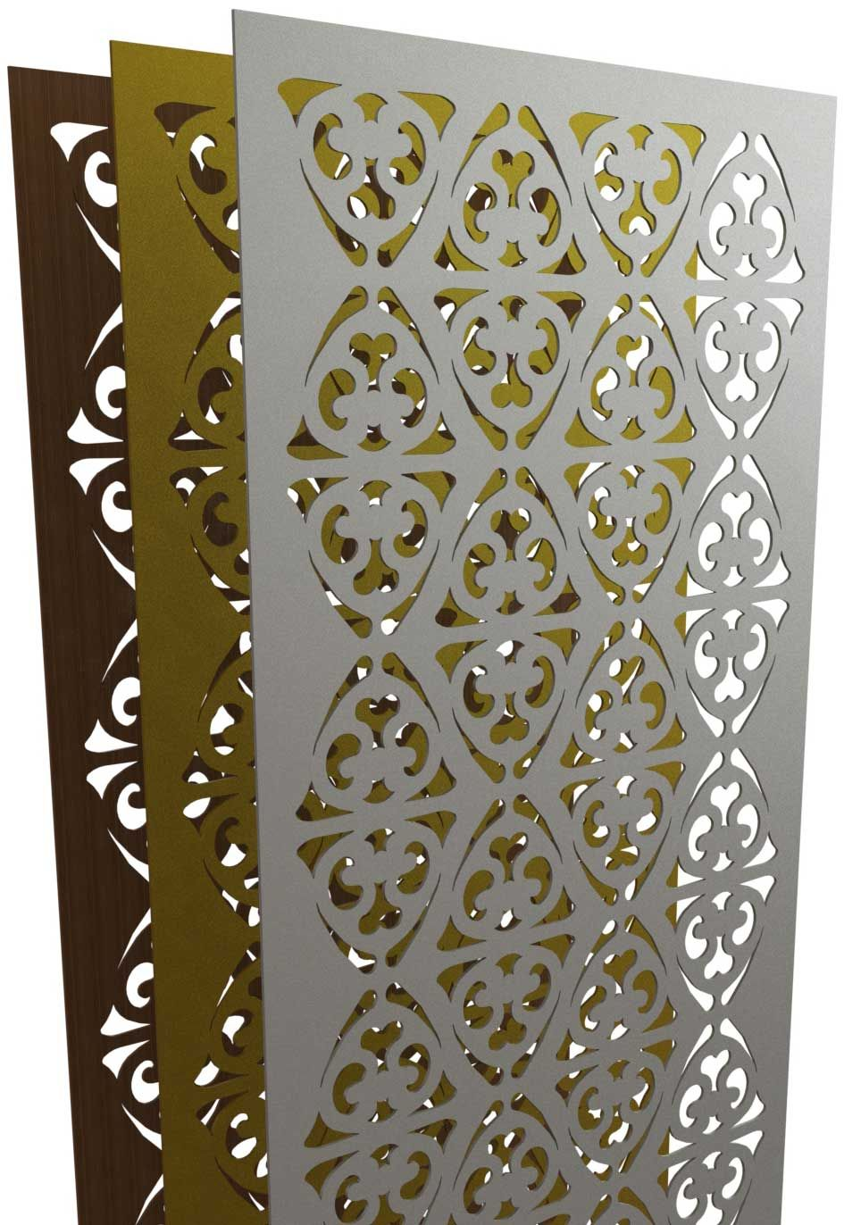 3D Rendering of a Parasoleil panel set | Outdoor wall ...