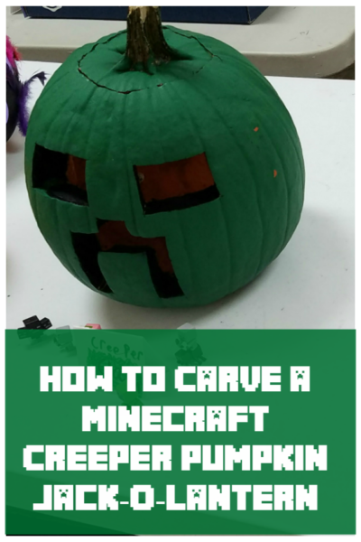 How To Carve A Minecraft Creeper Pumpkin Jack O Lantern Pumpkin Pumpkin Carving Minecraft Pumpkin