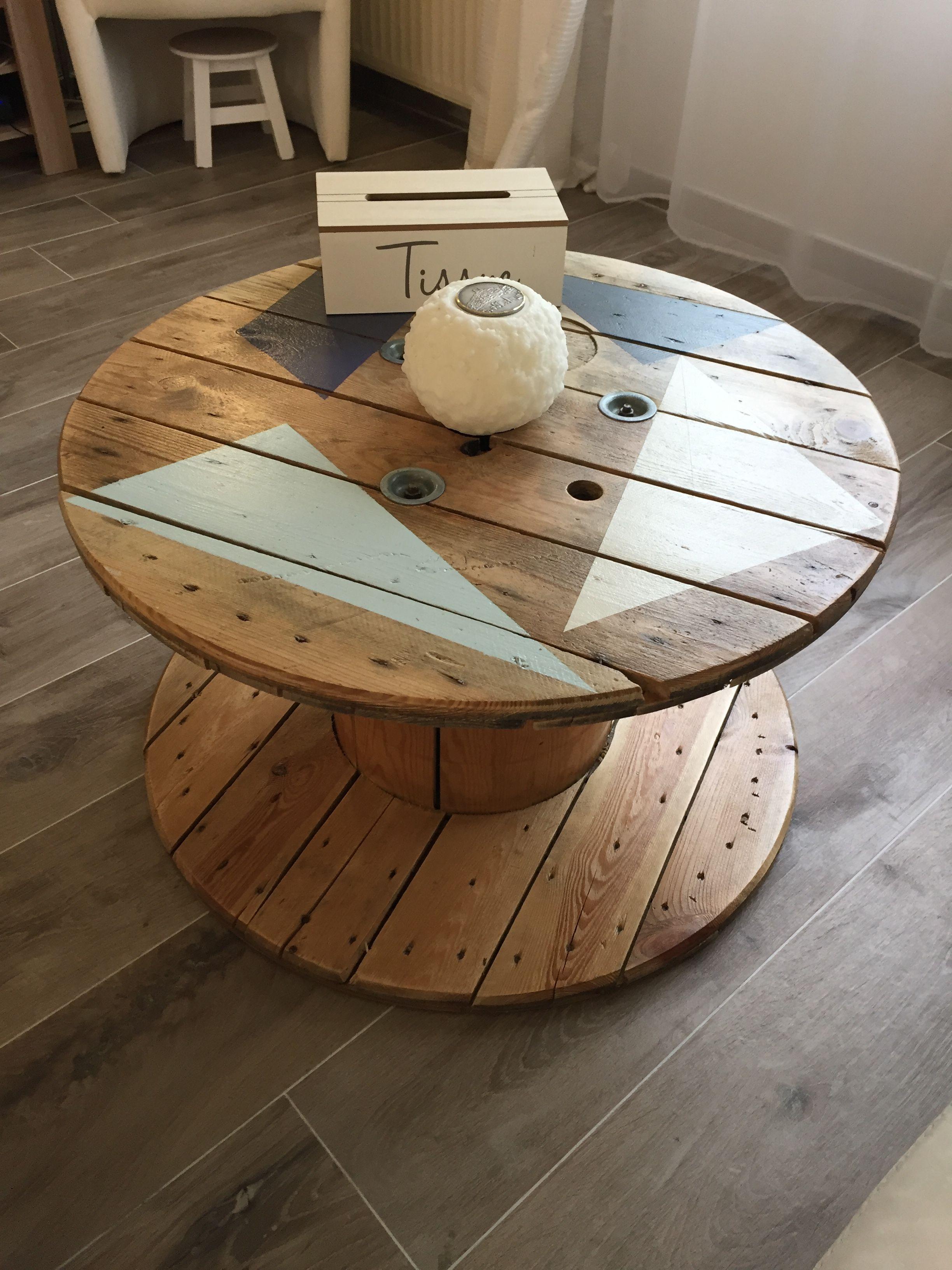 1001 Idees Que Faire Avec Un Touret Des Inspirations Recup Tables A Tiroir En Bois Tables A Tiroir Table Basse Touret