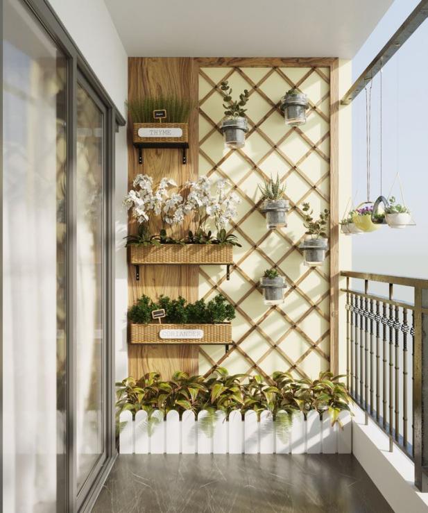 Balcony In The Scandinavian Apartment #apartment #balcony