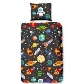 Planeten, ufo, sterren 140x200/220 incl sloop 60x70