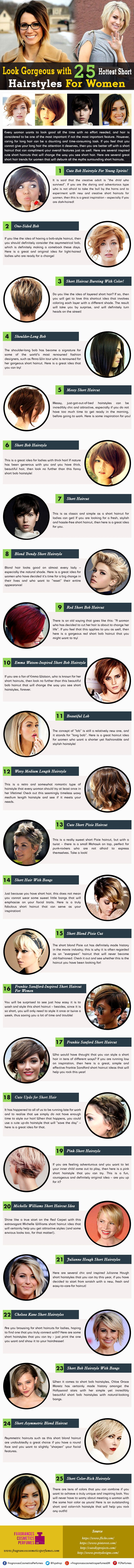 Look Gorgeous with 25 Hottest Short Hairstyles for Women #infographic | Short  hairstyles for women, Short hair styles, Womens hairstyles