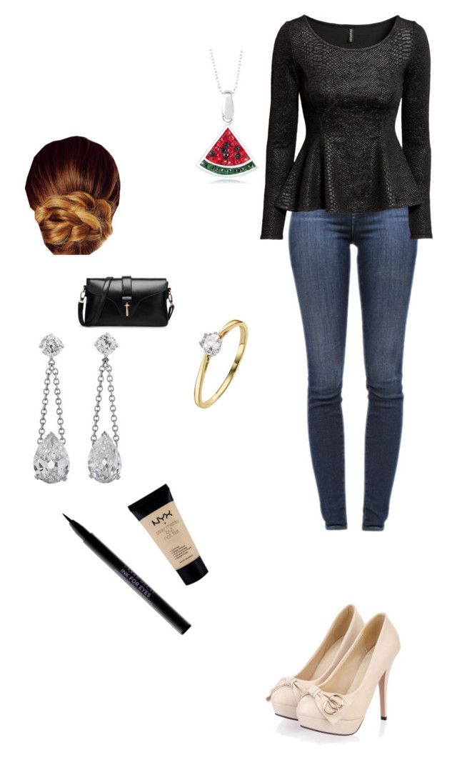 """""""...what a lovely...also chilly day!"""" by makeupfreakkkkk ❤ liked on Polyvore featuring J Brand, Kerastase, H&M, NYX and Urban Decay"""