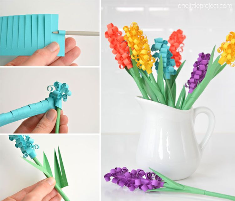 How To Make Paper Hyacinth Flowers Hand Made Paper Flowers Diy