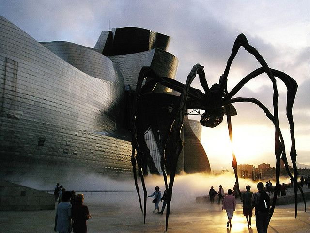 Maman, by Louise Bourgeois, at the Guggenheim Museum in Bilbao, Spain.