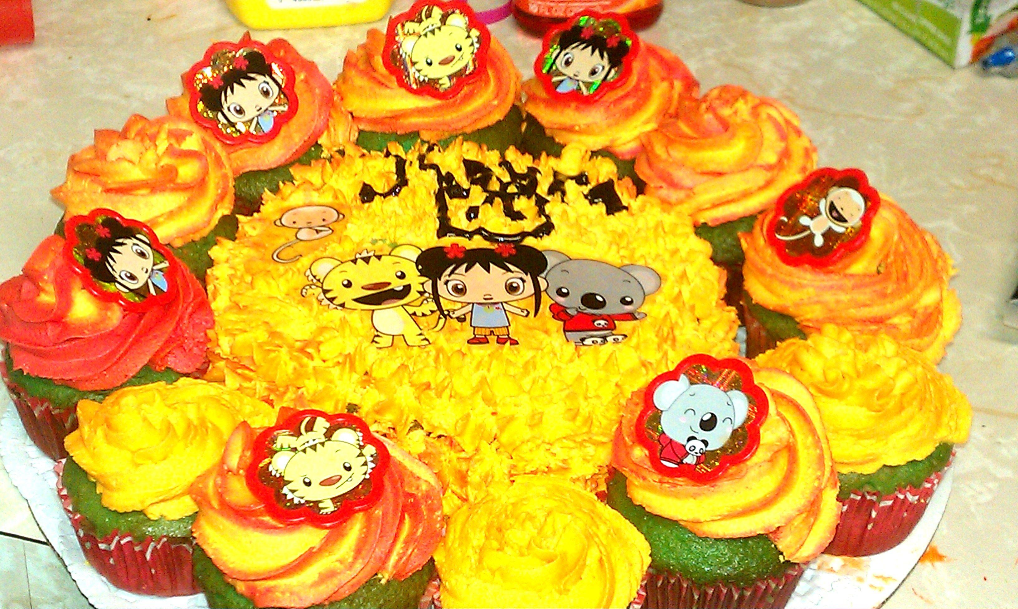 Nihao Kai Lan Cupcakes And Smash Cake Cake Smash Cake Kai Lan