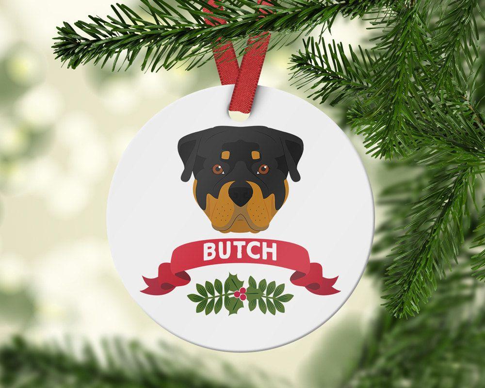 Rottweiler Santa Boot Ornament